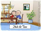 PERSONALIZED CUSTOM CARTOON PRINT - ANNIVERSARY - GREAT GIFT IDEA! FREE S/H