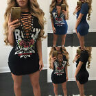 Women Floral Casual Summer Sleeveless Party Evening Cocktail Short Mini Dress