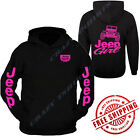 NEW Jeep Girl Hooded Sweatshirt /// Hot Pink Hoodie // S-2XL // 4x4 // Off Road