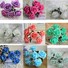 54 Real Touch Roses Bridal Bouquet Artificial Flowers Wedding Centerpiece Decor