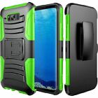Samsung Galaxy S8 Case Cover Kickstand Heavy Duty Full-body Belt Clip Holster