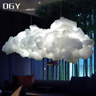 Led Floating Cloud Fixture Pendant Lamp Cotton Silk Chandelier Child Room Decor