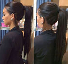 """Straight 16-22"""" Clip In High Ponytail 100% Real Human Hair Extensions Any Colors"""