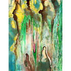 Canvas Art Wall Print Abstract Ink Watercolor To Hang Framed Large Texture