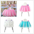 "39"" x 13.5"" High Chair Skirt Wedding Baby Shower 1st Birthday Party Decoration"