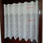 white great Embroidered Home decorate Kitchen Lace Sheer Cafe white Curtain