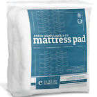 Luxury RV Deep Pocket Mattress Topper Fitted Quilted Goose Duck Down Feeling Pad image
