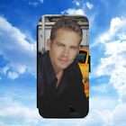 PAUL WALKER/FAST & FURIOUS/FLIP WALLET PHONE CASE COVER FOR IPHONE/SAMSUNG MODEL