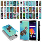 "For Alcatel OneTouch Idol 3 5.5"" 6045 Hybrid Bumper Shockproof Case Cover + Pen"