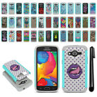 For Samsung Galaxy Avant G386T Hybrid Bumper Shockproof Case Cover + Pen