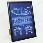 British MkV Tank Framed Blueprint - Print Picture WW1 Military Army Framed New