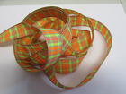 Berisfords Neon Textured Tartan Ribbon 25mm and 40mm Sold By the Metre