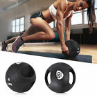 Goplus Dual Grip Medicine Ball Fitness Weighted Training 6/8/10/12/14/16/20lbs image
