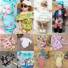 Внешний вид - Newborn Infant Baby Girl Summer Romper Bodysuit Jumpsuit Headband Outfit Clothes