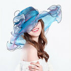 Women Summer Outside Organza Kentucky Derby Hat Bridal Tea Party Wedding Hat
