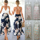 Kyпить UK Women Sleeveless Lace Floral Backless Ladies Summer Beach Long Maxi Sun Dress на еВаy.соm