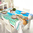 Beach House Life 3D Tablecloth Table cover Cloth Rectangle Wedding Party Banquet