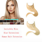 "15""-30"" Invisible Wire Flip In/On Remy Human Hair Extensions Headband No Clips"