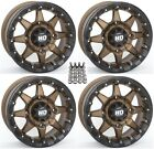 "STI HD5 Beadlock ATV Wheels/Rims Bronze 15"" Sportsman 550 850 1000"