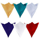 10X Satin Square Table Napkin Pocket Handkerchief Hanky Wedding Party Supplies