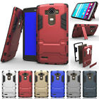 Shockproof Hybrid PC+TPU Bumper Stand Protector Armor Back Case Cover For LG G4