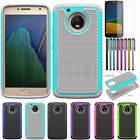 Armor Shockproof Hybrid Dual Layer Rubber Hard Case Cover For Motorola Moto G5