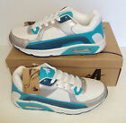 Ascot Ladies Maxim White Green Turquoise Lace Up Trainers Shoes UK Sizes 3-8