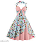 ZAFUL Women's Floral Vintage 1950s Rockabilly Evening Party Cocktail Swing Dress