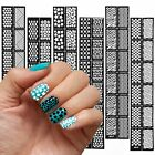 New Reusable Stamping Tool Nail Art Hollow Template Stickers Stamp Stencil Guide