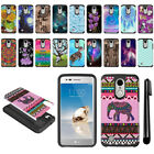 For LG Aristo MS210 LV3/ M150 Fortune Hybrid Bumper Protective Case Cover + Pen