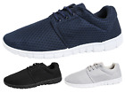 Mens Mesh Fabric Trainers Comfort Running Gym Pumps Lace Up Fitness Shoes Size