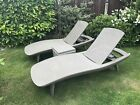 Keter Pacific Sunlounger Adjustable Plastic Pool Garden Recliner One Lounger