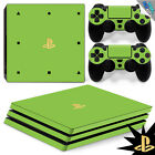 Playsation 4 PRO PS4 SKIN Wrap Cover WHITE RED GREY BLUE GREEN LOGOS GOLD SILVER
