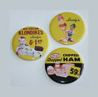 ISALY'S MAGNET or PIN BUTTON Chipped Ham Skyscraper Ice Cream Cone Vintage Art