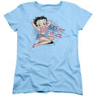Betty Boop ALL AMERICAN GIRL U.S. Flag Bikini Licensed Women's T-Shirt All Sizes $21.73 USD