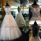New Lace Quinceanera Dresses 2017 Beaded Prom Party Wedding Dress Ball Gowns