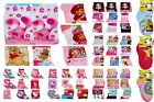 Girls Socks 1 Pair Dora, Hello Kitty, Strawberry Shortcake, Minnie,Smurfs Barbie