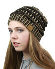 CC Beanie New Womens Knit Slouchy Oversized Thick Cap Hat Unisex Slouch Color