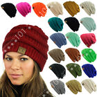 Hot item! CC Beanie New Women's Knit Slouchy Thick Cap Hat Unisex Solid Color