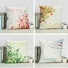"18"" Four Seasons Cushion Cover Cotton Linen Sofa Throw Pillowcase Home Decor"