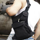 Mens Canvas Leg Bag Tactical Riding Hip Fanny Pack Waist Thigh Drop Camping US