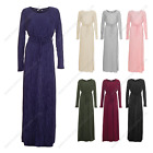Womens Ladies Summer Long Shirt Modest Abaya Maxi Crinkle Casual Outdoor Wear