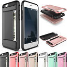Luxury Credit Card Holder Hybrid Rubber Protector Case Cover For iPhone SE 5 5s