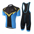 New Blue Men Sportswear Cycling Jersey Set Bike Clothing Bicycle Bib Shorts Pad