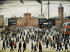 L S Lowry - going to work artwork Glossy Photo print A4 or A5 size