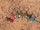 Real Sea Stallion with sea shells  keychain in 7 colors