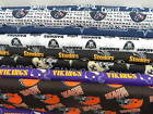 NFL FOOTBALL FABRICS , COTTON FABRIC,   NEW