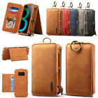 2in1 Leather Wallet Magnetic Clip Case Cover for Samsung Galaxy S8 S8 Plus