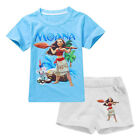 Baby Girls Disney Moana Outfits Summer Birthday Party Top Shorts Clothes Set