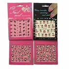 Set of 4 Packet 3D Nail Stickers Kitty Butterfly Fish Flower Heart Betty Boop $3.58 AUD on eBay